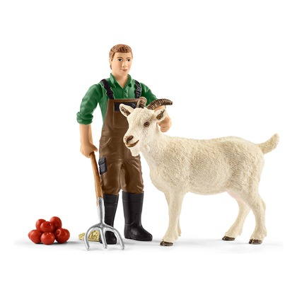 Фермер с козой