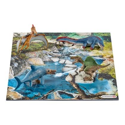 Мини-динозавры и пазл Болото