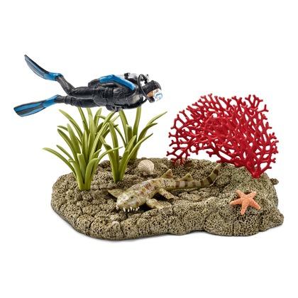 Набор Риф под водой с дайвером