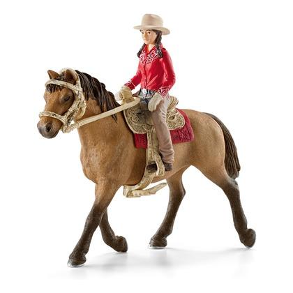 Наездница с лошадью в стиле вестерн