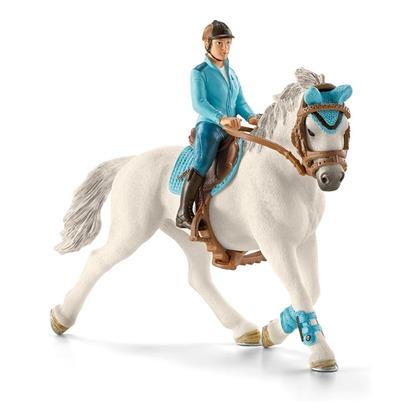 Наездница с белой лошадью