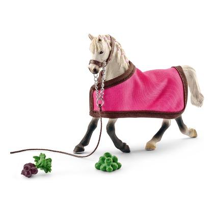 Арабская лошадь с попоной
