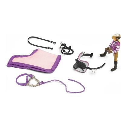 Набор для верховой езды с наездницей для пони