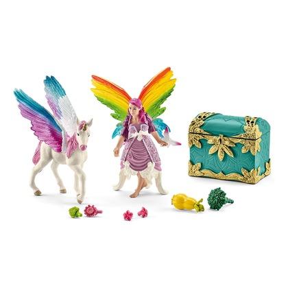 Радужная эльфийка Лиз с жеребенком пегаса