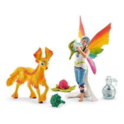 Радужная эльфийка Дунья с жеребенком