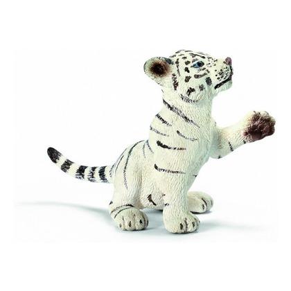 Тигрёнок белый, играет