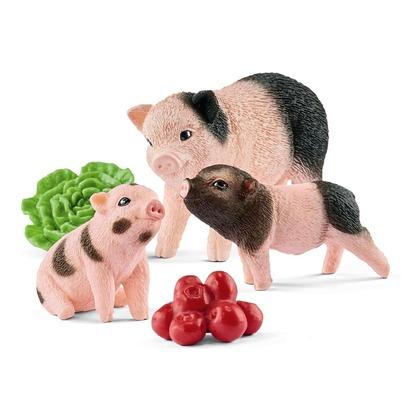 Карликовая домашняя свинья с поросятами