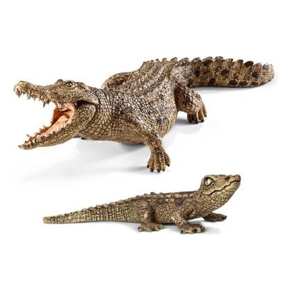 Крокодил с детенышем