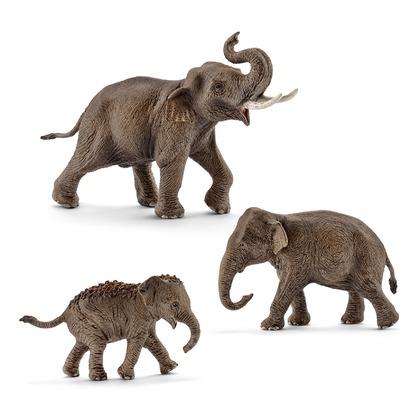 Семейство Азиатских слонов