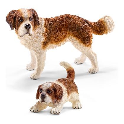 Сенбернар со щенком