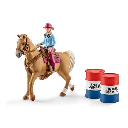 Девушка-ковбой с лошадью и аксессуарами