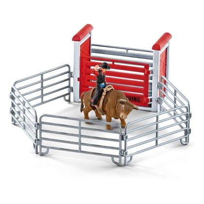 Родео с ковбоем, быком и аксессуарами