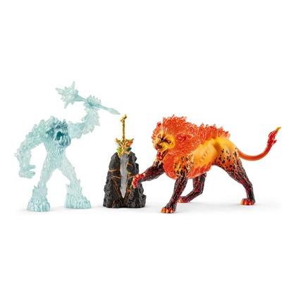 Ледяной монстр против огненного льва