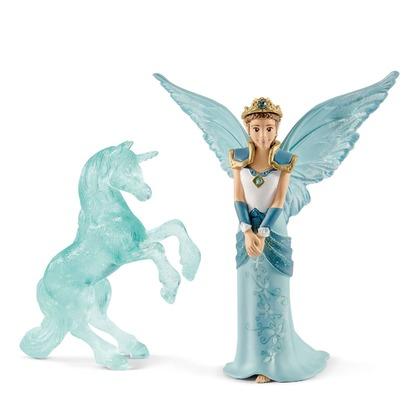 Эльфийка Айела и ледяная статуя единорога
