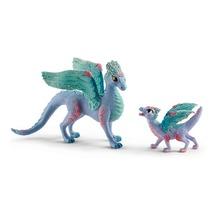 Цветочный дракон с детенышем