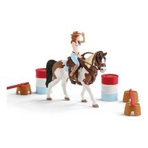 Наездница-ковбой с набором для верховой езды