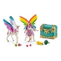 Радужная эльфийка Лиз с жеребенком пегаса (уценка)