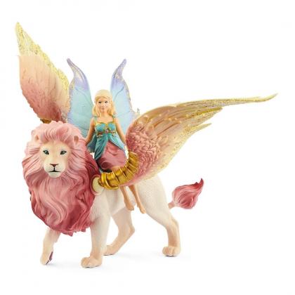 Фея, летящая на крылатом льве