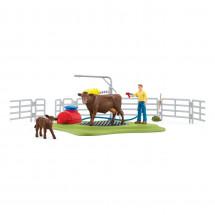 Весёлая мойка для коровы