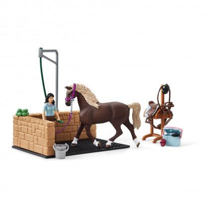 Мойка для лошадей с Эмили и Луной